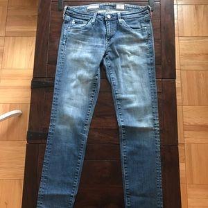 AG cigarette leg blue jeans size 27